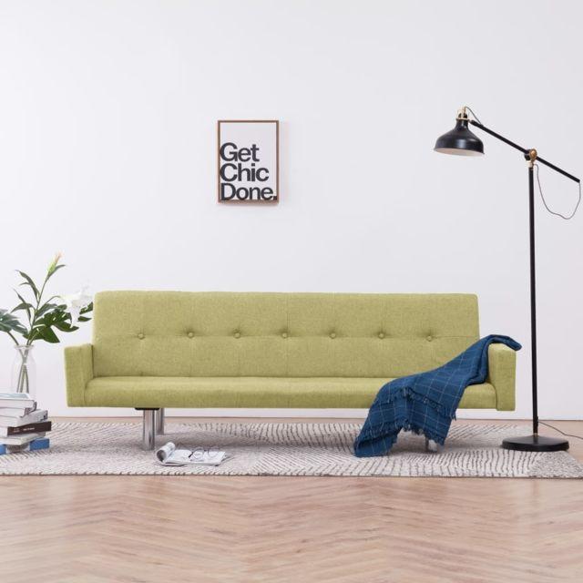 Distingué Meubles selection Bruxelles Canapé-lit avec accoudoir Vert Polyester