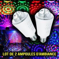Inolights - Lots 2 ampoule à ambiance Space Culot E27 à Leds Rvb 3W