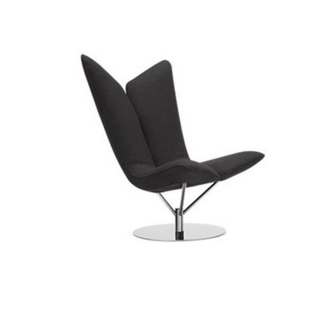 Inside 75 Fauteuil design Angel en microfibre grise Softline