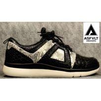 Asfvlt - Sneakers Concrete Premium Black Crock Snakeskin