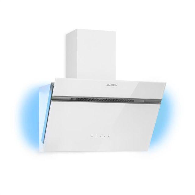 KLARSTEIN Alina 60 Hotte aspirante 60cm 600 m³/h classe A design verre blanc