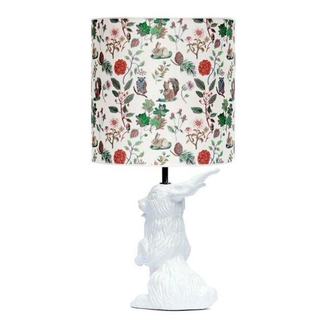 Par Lampe Jour Abat Nathalie Et Céramique Lapin Automne Blanc Lété Tissu Designé Jeannot H60cm Poser À cARq3L5j4