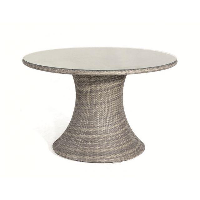 Hemisphere Editions - Table ronde de jardin en résine tressée ...