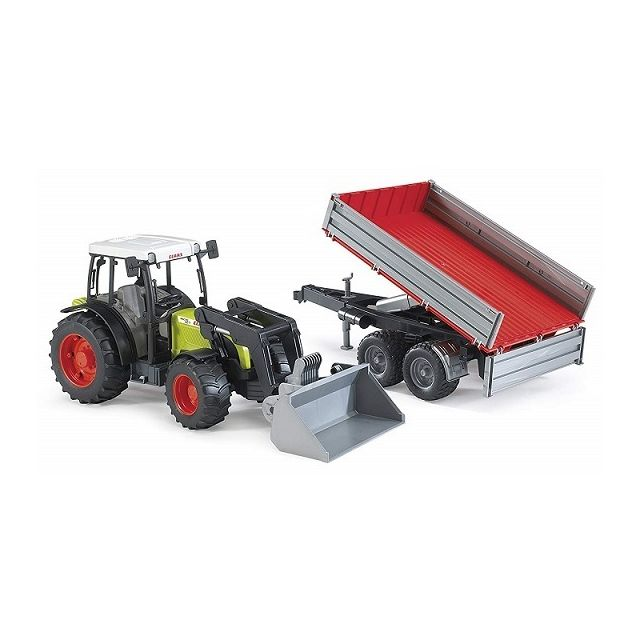 Bruder Tracteur Claas Nectis 267F avec chargeur et remorque