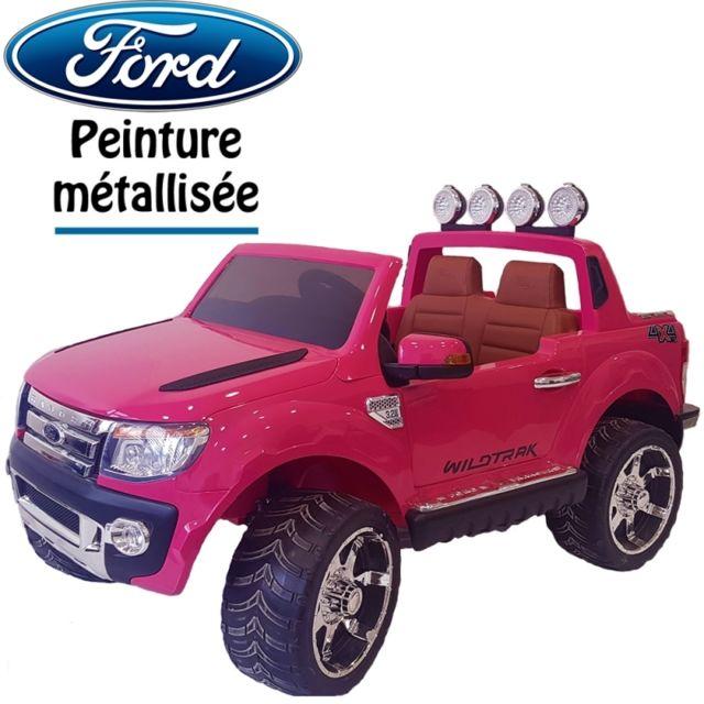 ford 4x4 voiture quad lectrique pour enfant ranger rose. Black Bedroom Furniture Sets. Home Design Ideas