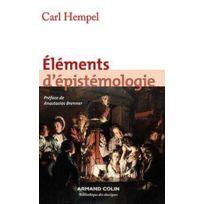 Armand Colin - éléments d'épistémologie 3e édition