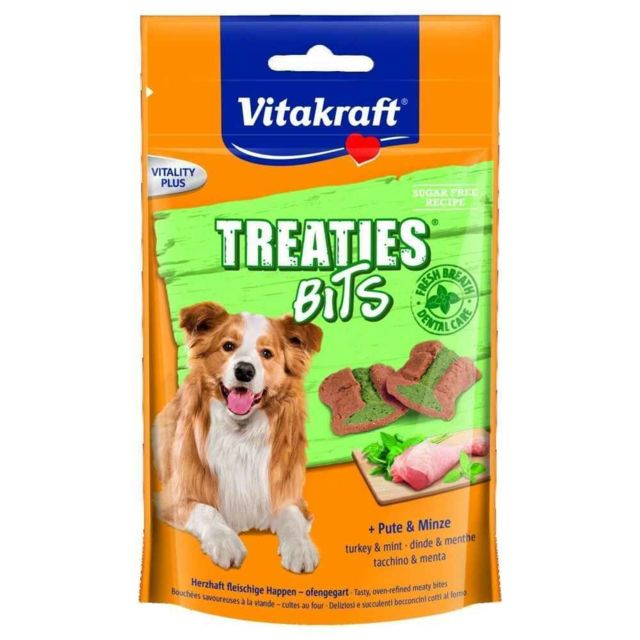 Vitakraft Friandises Treaties Bits Dental Care pour Chiens 120g