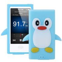 Techexpert - Coque silicone cartoon Pingouin pour ipod nano 7 bleu clair