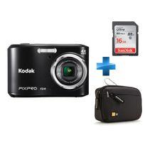 KODAK - Pack Débutant -CZ42-NOIR + Carte SD 16GO + Housse Case Logic
