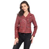 Kaporal 5 - Kaporal - Femme - Manteau en laine col perfecto noir ... 6832bf770f5d