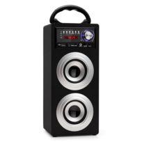 Beatfoxx - Beachside Bluetooth haut-parleur portable Usb, Sd, Aux, Ukw/MW argenté