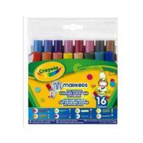 Crayola - 16 Feutres lavables pointes fantaisies