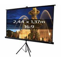 Kimex - Ecran de projection trépied 2,44 x 1,37m, format 16:9