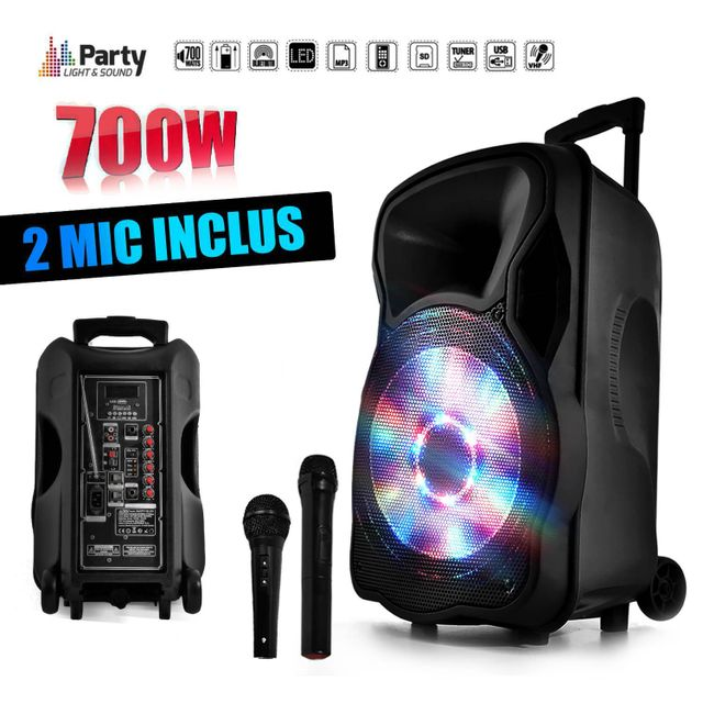 Party Sound Enceinte sono mobile amplifiée 700W 12
