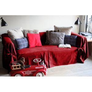 soldes comptoir des toiles housse de canap bachette 3 places 100 coton nouettes ines. Black Bedroom Furniture Sets. Home Design Ideas
