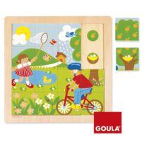 Goula - Puzzle 16 pièces en bois : Printemps