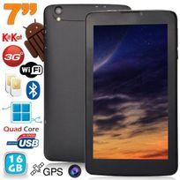 Yonis - Tablette 3G 7 pouces Android 4.4 KitKat Double Sim débloqué 16Go Noir