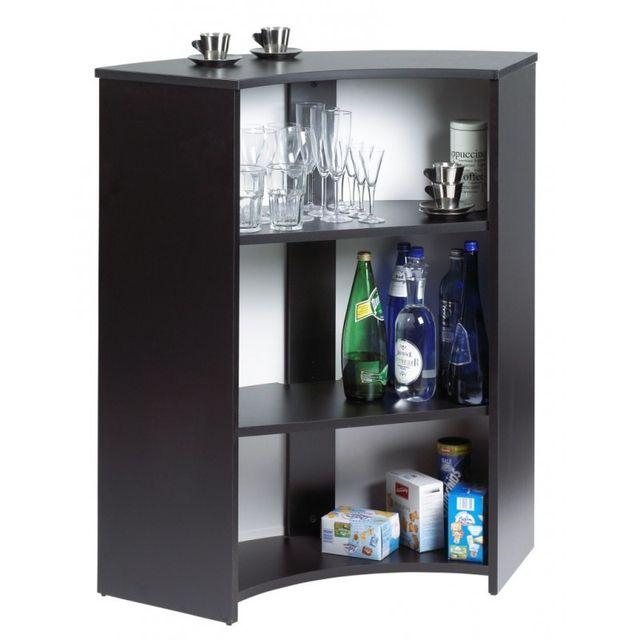 Simmob Meuble Comptoir Meuble Bar Noir 96 Cm Pas Cher Achat Vente Bars Rueducommerce