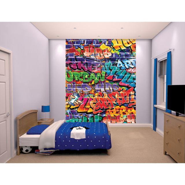 Walltastic   Papier peint mural Graffiti 203X244 Cm   pas cher