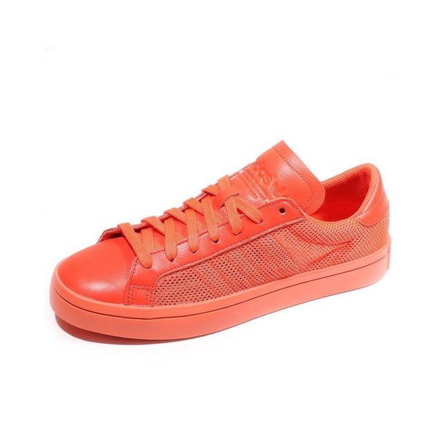 Adidas Chaussures Court Vantage Orange Femme Orange 37 13