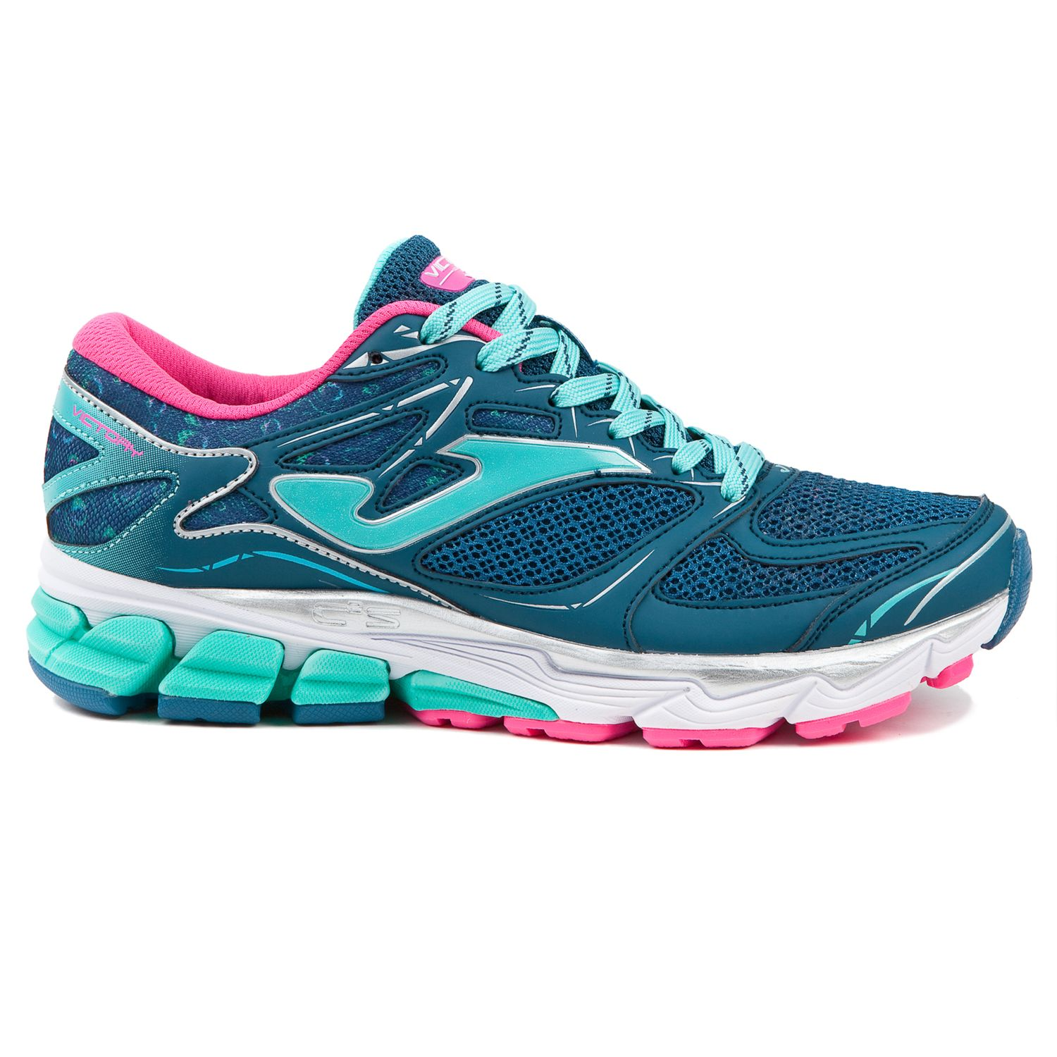 Joma - Chaussures femme Victory turquoise/rose - pas cher Achat / Vente Chaussures running