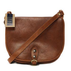 Oh My Bag Sac à main Sac à main femme cuir lisse - Modèle Verlaine cognac foncé Oh My Bag pcnWDjDfZX