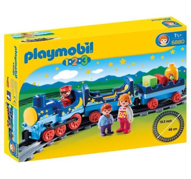 PLAYMOBIL - Train étoilé avec passagers et rails - 6880