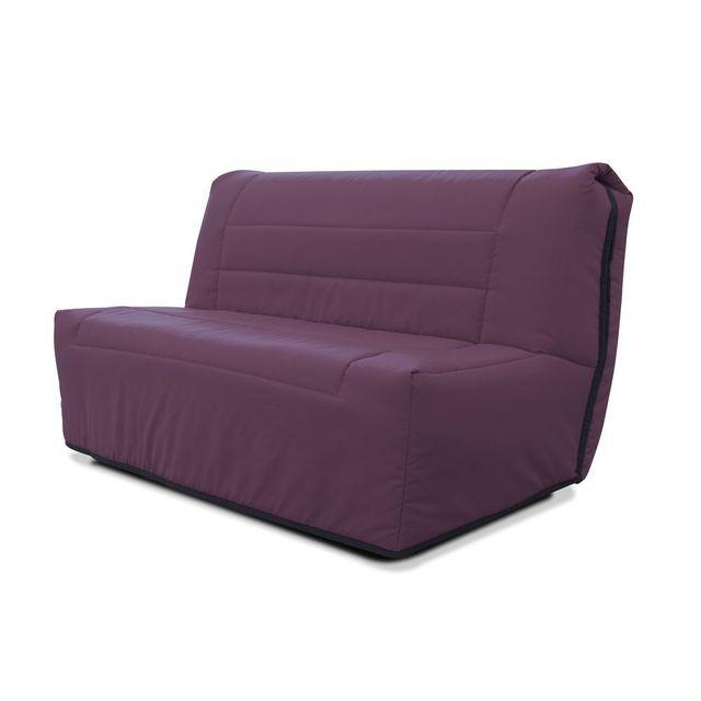 g n rique banquette bz 2 places 140x190 violine pas cher achat vente banquettes clic. Black Bedroom Furniture Sets. Home Design Ideas