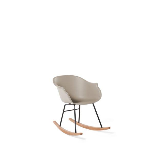 BELIANI Chaise à bascule beige HARMONY - beige