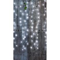 Blachereillumination - Rideau Flicker 2x2 m 96 Leds Blanc Pur Animé