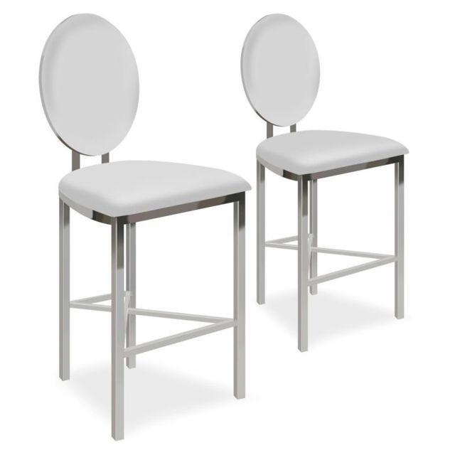 Paris Prix Lot de 2 Chaises de Bar Design \