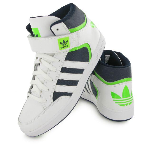 Homme adidas Originals Varial Mid Blanc Gris Vert Baskets