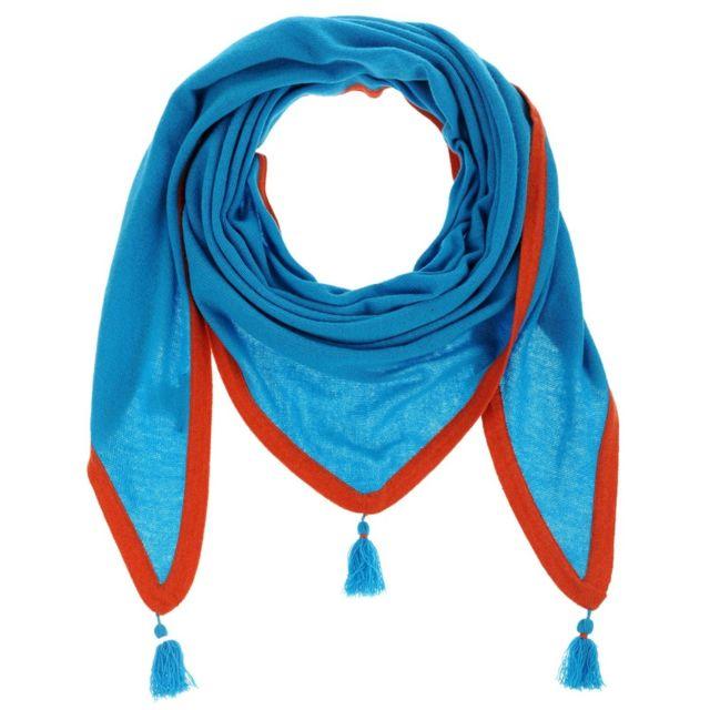 Les Poulettes Bijoux - Echarpe Triangle 100% Cachemire 2 Fils - Turquoise - pas  cher Achat   Vente Echarpes, foulards - RueDuCommerce e7011df8043
