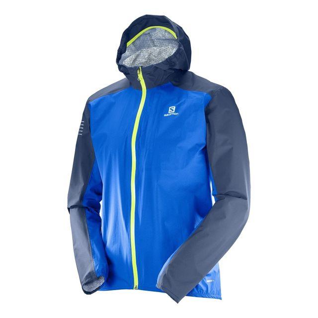 Bonatti Wp Jkt Bleue Veste running étanche