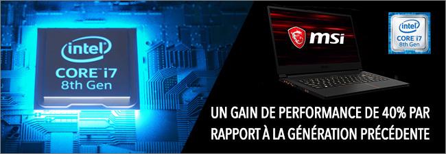 MSI GS - Processeur Intel Core i7 8th