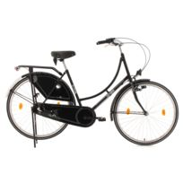 KS CYCLING - Vélo hollandais 28'' Tussaud Classic noir TC 54 cm