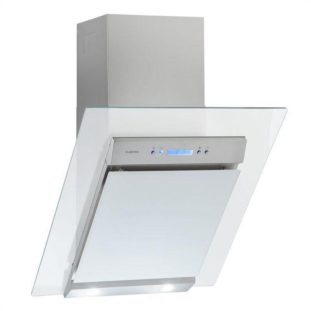 KLARSTEIN Skycook Hotte aspirante 60cm 640 m³/h inox & verre - Classe A