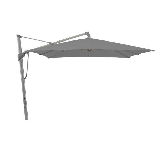 Glatz Parasol carré Sombrano S+ - 300 x 300 cm - graphite-gris - 420 Smoke