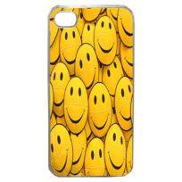 Lapinette - Coque Rigide Humour Smiley Pour Apple Iphone 4 - 4s