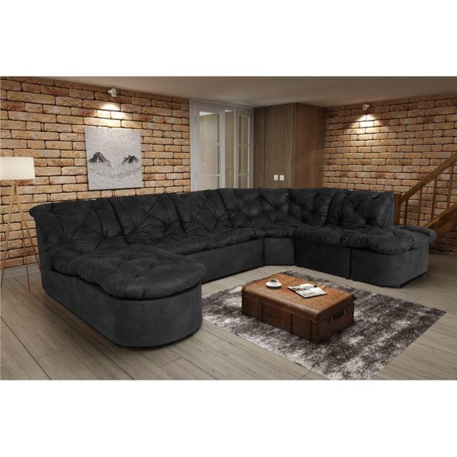 Rocambolesk Canapé Clac Lux L2A1P Tobago 17 antracite sofa divan