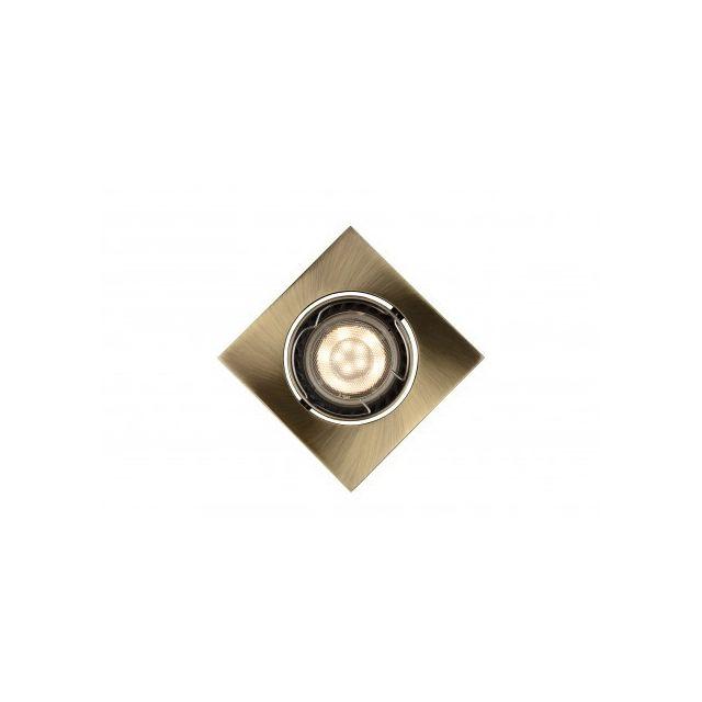 Lucide Focus - Spot Encastrable - Led Dim Gu10 - 1x5W 3000K - Bronze