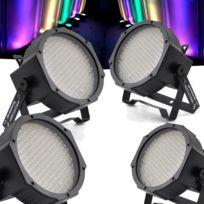 Flash - Pack 4 lumières Led Par 56 à 177 Diodes Rgb