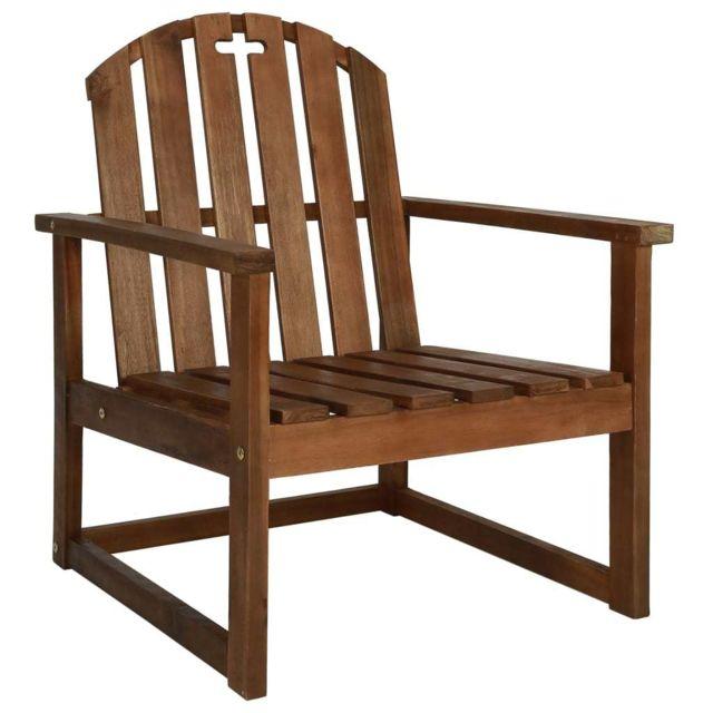 Vidaxl Chaise de jardin avec accoudoirs 2 pcs Bois d