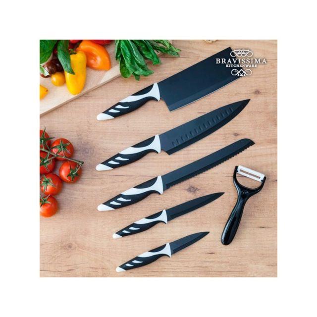 Bravissima Kitchen Couteaux Top Chef Black C01024 6 pièces