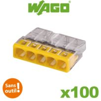 Wago - Boite de 100 mini bornes de connexion automatique 5 entrées S2273