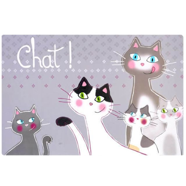 Foxtrot Un set de table Famille de Chats