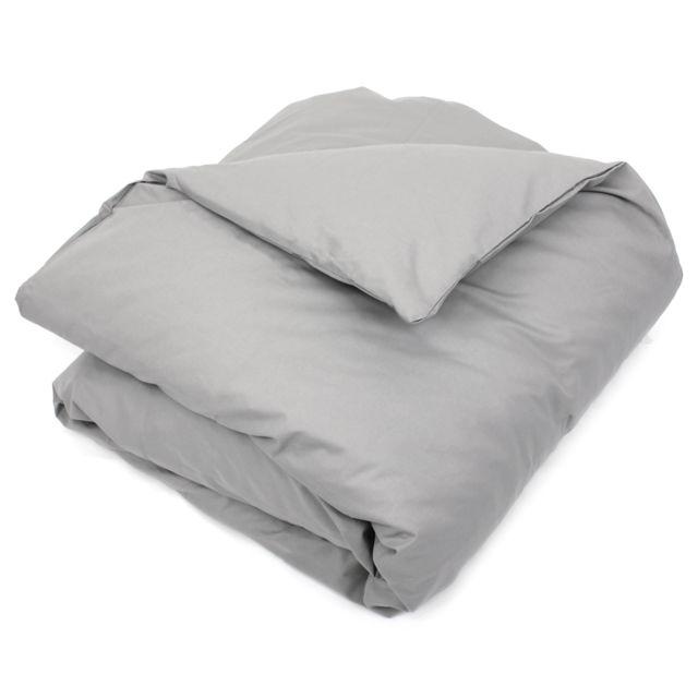 linnea housse de couette uni 260x240 cm 100 coton alto alu multicolore nc pas cher achat. Black Bedroom Furniture Sets. Home Design Ideas