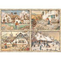 Puzzle 1000 pièces : 4 saisons, Anton Pieck