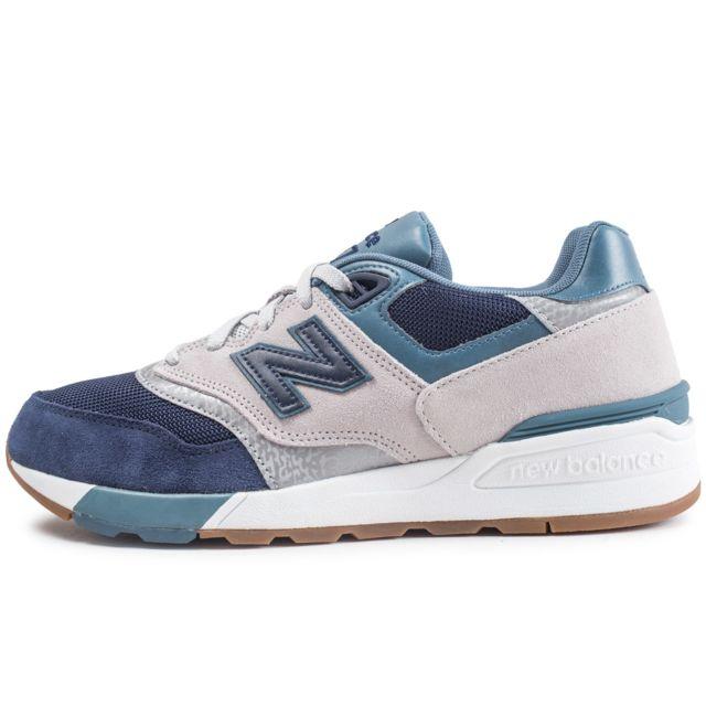 855f0661c59 New Balance - Ml597ngt Gris Et Bleu - pas cher Achat   Vente Baskets ...