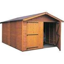 Garage En Bois Avec Porte Double Kompact 6 M